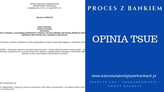 Kredyty frankowe Opinia TSUE – Umowy denominowane są nieważne?