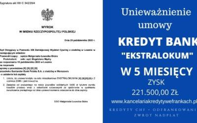 """Unieważnienie kredytu Kredyt Bank """"Ekstralokum"""" w 5 MIESIĘCY! 1 Rozprawa! SO Poznań"""