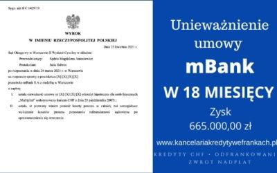 """Unieważnienie kredytu mBank """"Multiplan"""" na 1 rozprawie. Wygrywamy w SO Warszawa"""