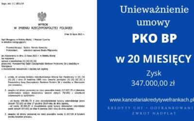 Unieważnienie kredytu PKO BP. Znów wygrywamy w Bielsku-Białej