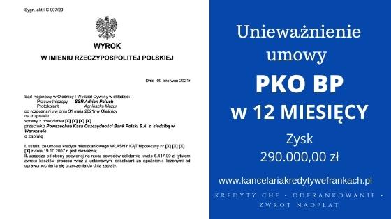 Unieważnienie kredytu frankowego PKO BP.Wygrywamy w 12 miesięcy. SR Oleśnica