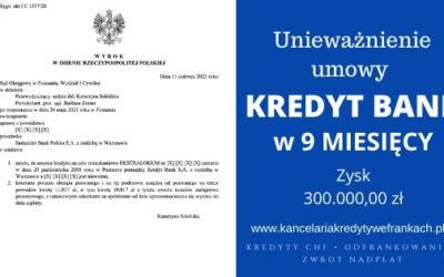 Unieważnienie kredytu Kredyt Bank EKSTRALOKUM. Wygrywamy w 9 MIESIĘCY. SO Poznań
