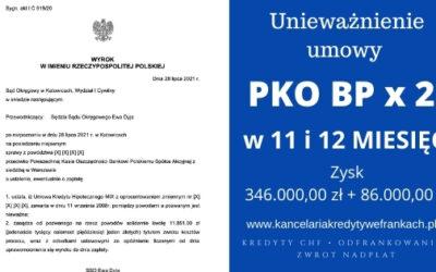 Unieważnienie kredytów PKO BP pomimo możliwości spłaty w CHF. Wygrywamy w 11 i 12 miesięcy. SO KATOWICE / SO SZCZECIN