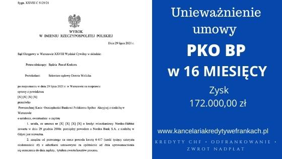 Kolejna wygrana Frankowiczów w SO w Warszawie. Kredyt Nordea nieważny. Wygrywamy na 1 rozprawie!