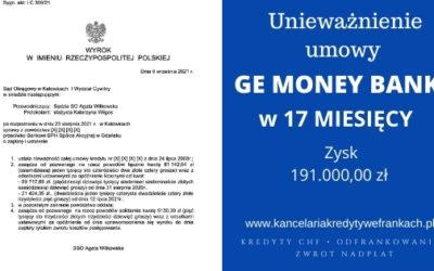 Unieważnienie kredytu GE Money Bank (BPH). Wygrywamy w SO w Katowicach
