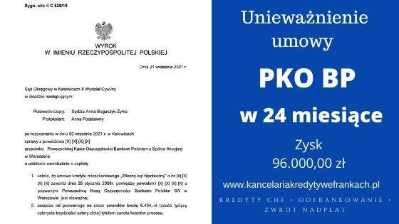"""Unieważnienie kredytu PKO BP """"Własny Kąt"""". Wygrywamy w SO w Katowicach"""
